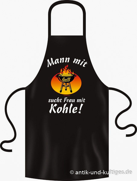 RAHMENLOS® Grillschürze Mann mit Grill