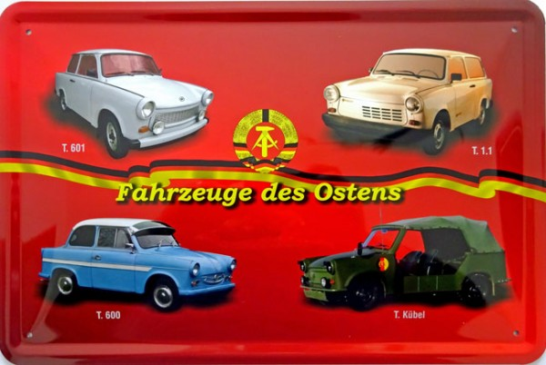 Blechschild Fahrzeuge des Ostens Trabant