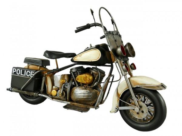 Motorrad Police Harley Davidson Blechmodell 37 cm