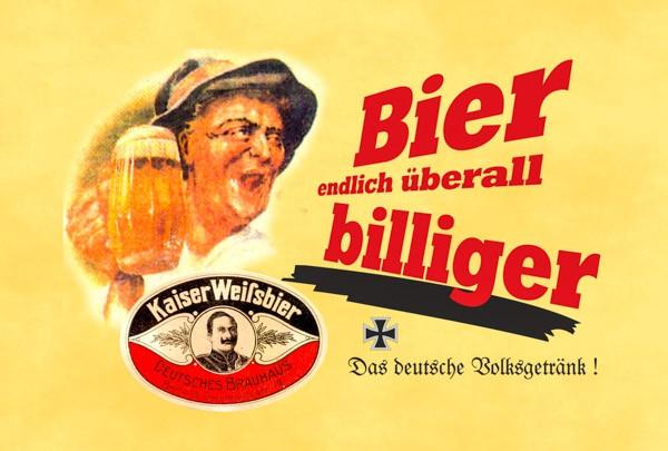 Blechschild Endlich Bier überall billiger