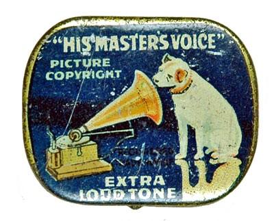 HIS MASTERS VOICE, alte Grammophon Nadeldose