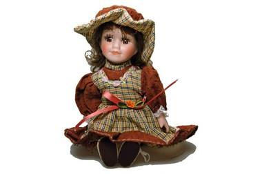 Sammlerpuppe Susi, Porzellanpuppe, 23 cm