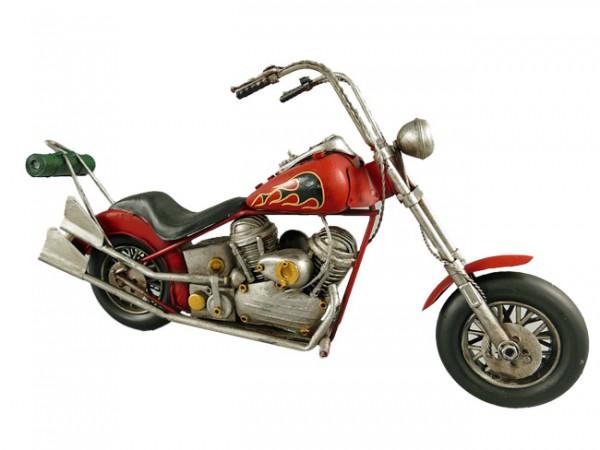 Motorrad Chopper Blechmodell 40 cm