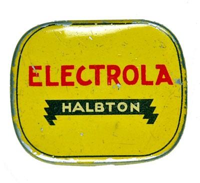 Electrola, Halbton, alte Grammophon Nadeldose