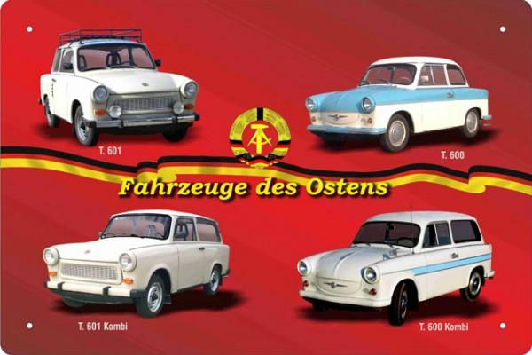 Blechschild Fahrzeuge des Ostens Trabant 600 601
