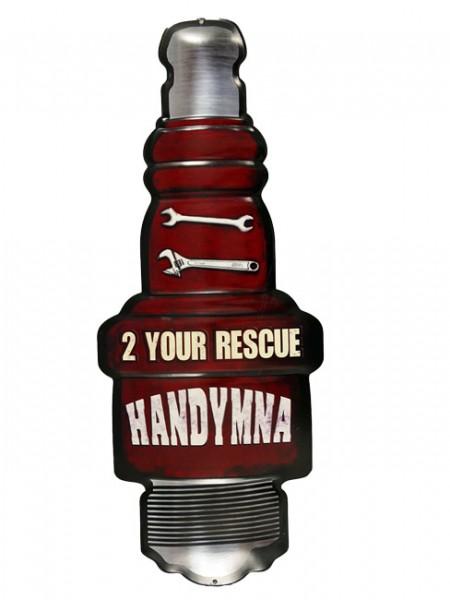 Blechschild Zündkerze 2 Your Rescue