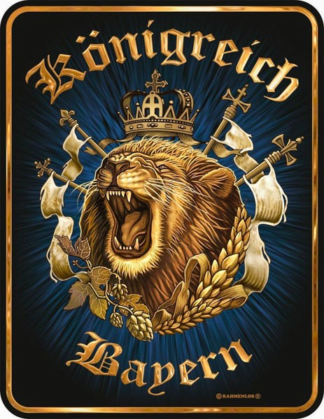 Blechschild Königreich Bayern - RAHMENLOS® 3464