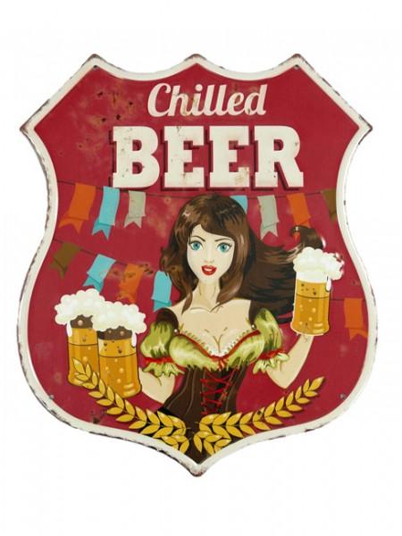 Blechschild Chilled Beer