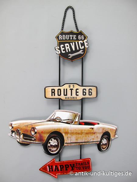 Blechschild Route 66