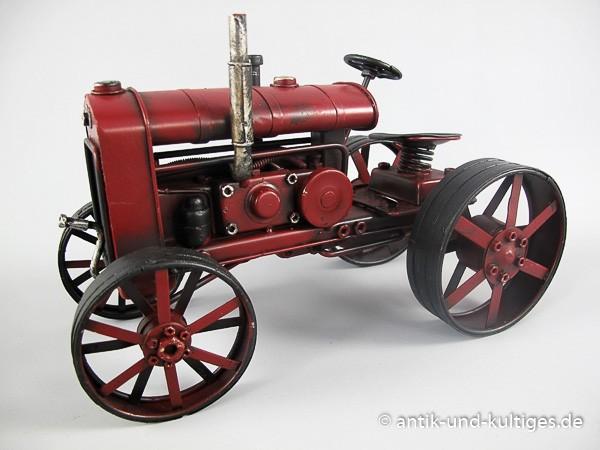 Traktor rot Blechmodell 26 cm