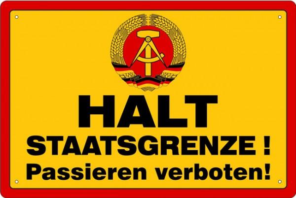Blechschild Halt Staatsgrenze DDR