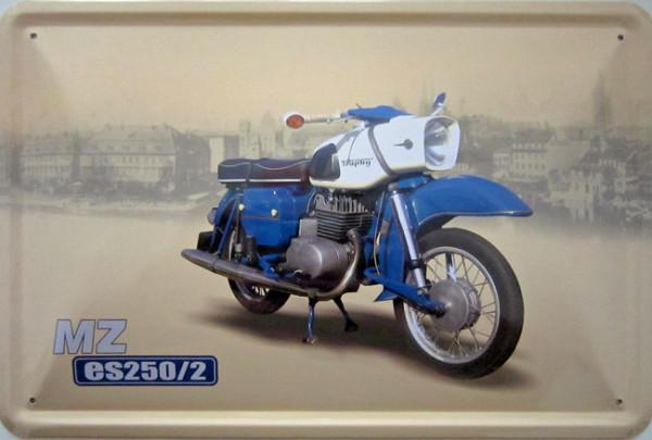 Blechschild Motorrad MZ ES 250/2