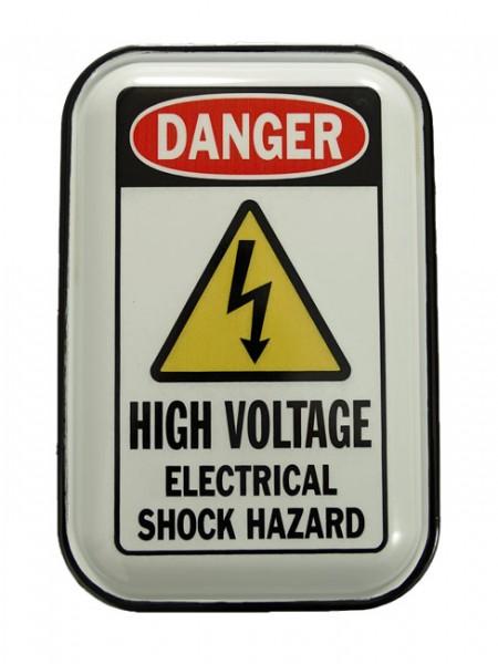 Blechschild High Voltage