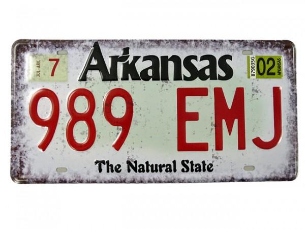 Blechschild Arkansas Nummernschild