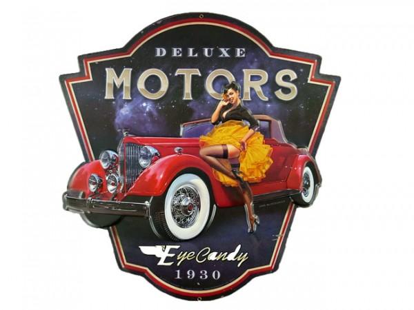 Blechschild Deluxe Motors