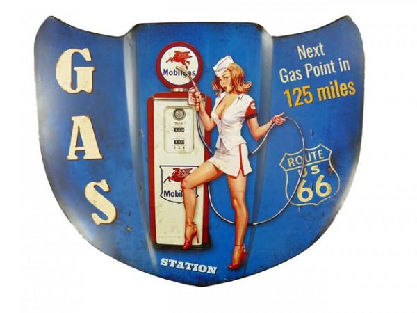 Blechschild Motorhaube Gas Station Route 66