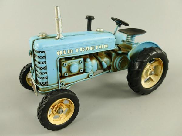 Traktor blau Blechmodell 26 cm