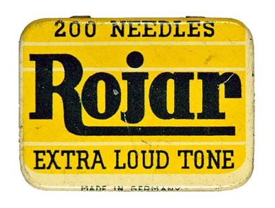 Rojar, alte Grammophon Nadeldose