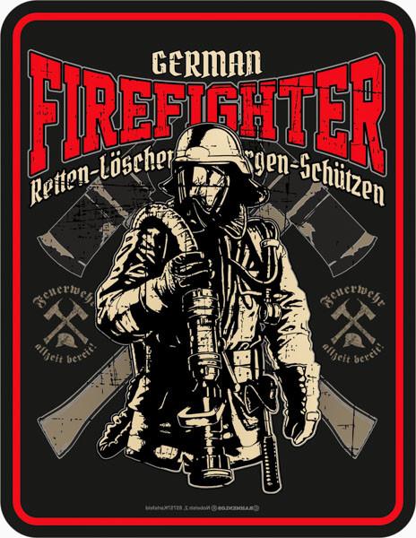 Blechschild German Firefighter - RAHMENLOS® 3824