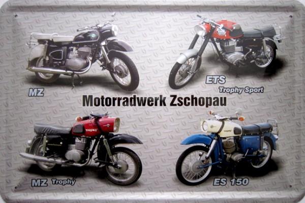 Blechschild Motorrad MZ Zschopau