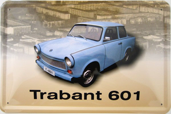 Blechschild Trabant 601 DDR