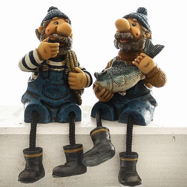 Kantenhocker Seemänner mit Bommelbeine 2er Set