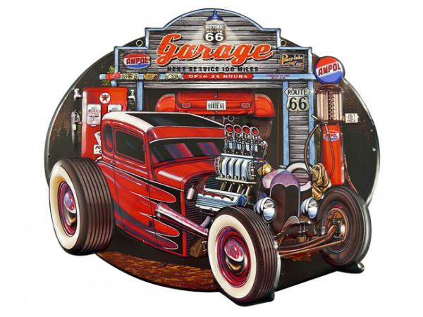 Blechschild Auto Garage Hot Rod