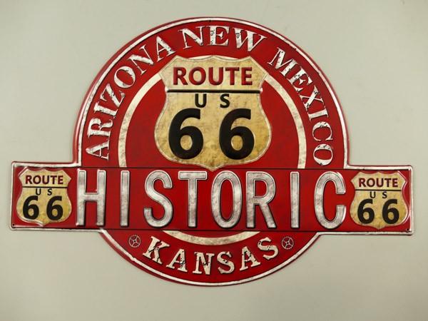 Blechschild Historic Route 66