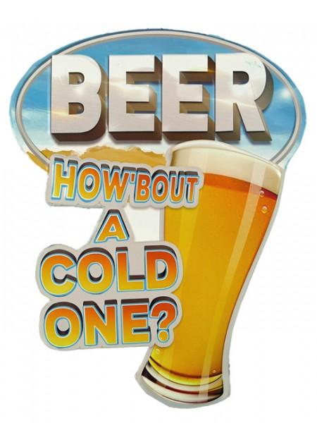 Blechschild Beer Cold One