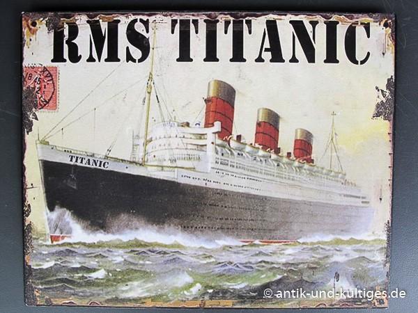 Blechschild RMS Titanic