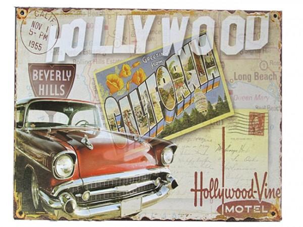 Blechschild Hollywood