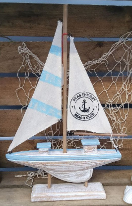 Modellschiff Segelboot Gray Line Schiffsmodell aus Holz - 34x21 cm