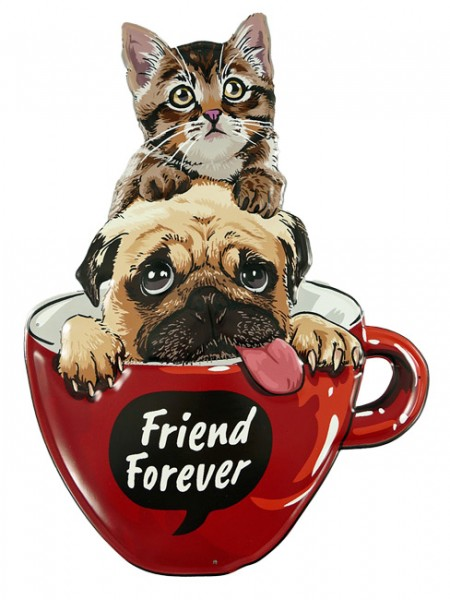Blechschild Friend Forever