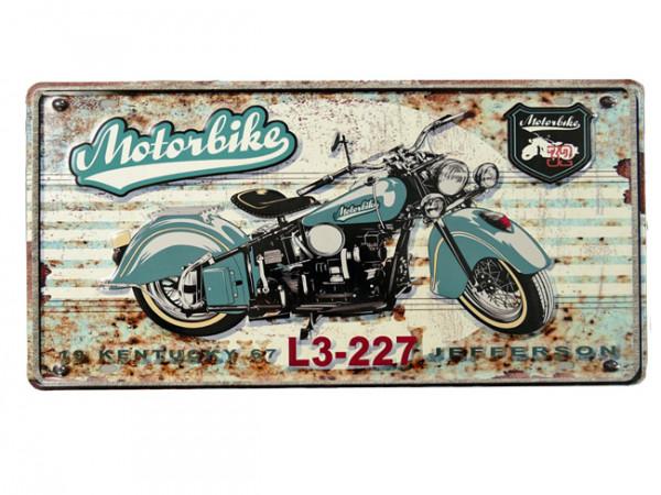Blechschild Motorbike