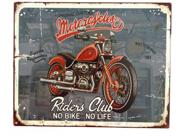 Blechschild Riders Club