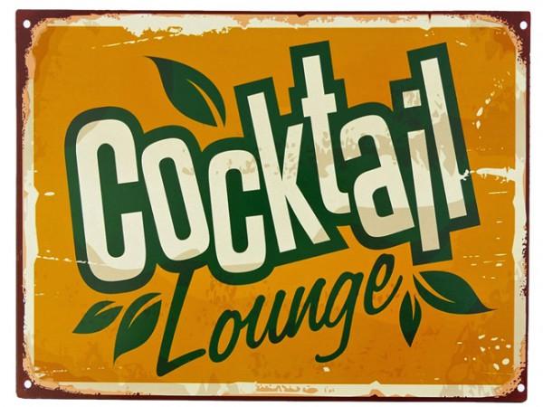 Blechschild Cocktail Lounge