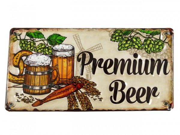 Blechschild Premium Beer