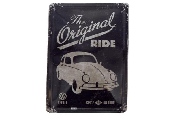 Blechpostkarte VW Beetle - The Original Ride