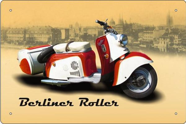 Blechschild Berliner Roller