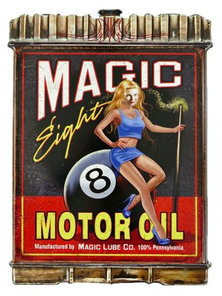 Blechschild Magic 8 Motor Oil