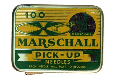 Marschall Pick - Up, alte Grammohon Nadeldose