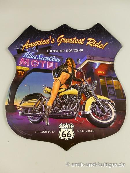 Blechschild America´s Greatest Ride - Route 66