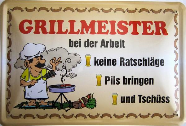 Blechschild Grillmeister