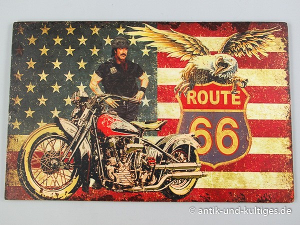 Blechschild Route 66 - 021