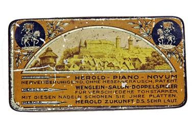 Herold Sortiment, alte Grammophon Nadeldose