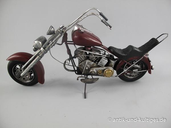 Motorrad Chopper Blechmodell Antik 48 cm