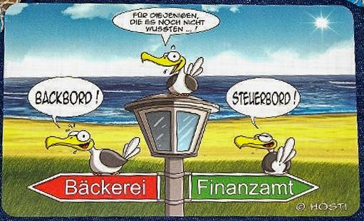 Frühstücksbrett Steuerboard - Backboard