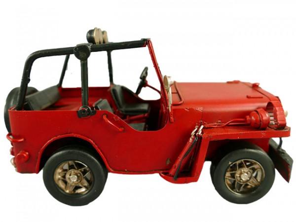 Jeep rot Blechmodell