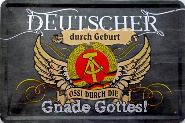 Blechschild Deutscher durch Geburt