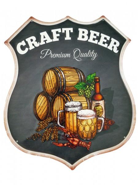 Blechschild Craft Beer